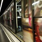 Barcelona Metro Blur by Jodi Fleming