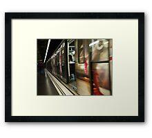 Barcelona Metro Blur Framed Print