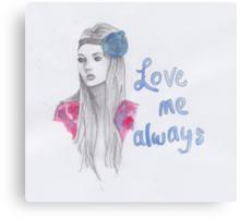 Love me always Canvas Print