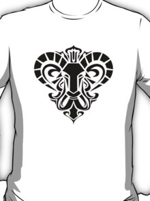 Zodiac Sign Aries Black T-Shirt