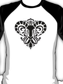Zodiac Sign Aries Black T-Shirt
