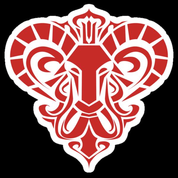Zodiac Sign Aries Red by elangkarosingo