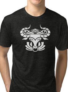 Zodiac Sign Taurus White Tri-blend T-Shirt