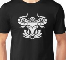 Zodiac Sign Taurus White Unisex T-Shirt