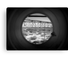 Tunnel Vision to a Desert Future Canvas Print