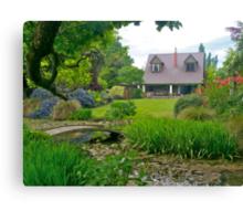 Flaxmere Garden, Canterbury, South Island, NZ. Canvas Print