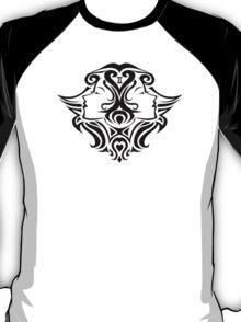 Zodiac Sign Gemini Black T-Shirt