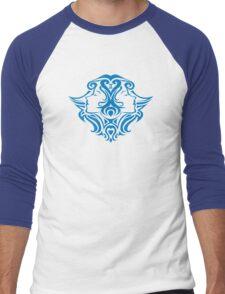 Zodiac Sign Gemini Blue Men's Baseball ¾ T-Shirt
