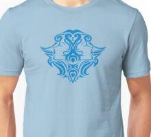 Zodiac Sign Gemini Blue Unisex T-Shirt
