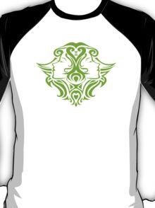 Zodiac Sign Gemini Green T-Shirt