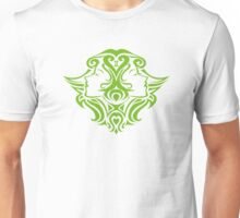 Zodiac Sign Gemini Green Unisex T-Shirt