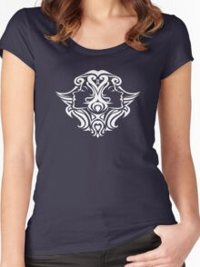 Zodiac Sign Gemini White Women's Fitted Scoop T-Shirt
