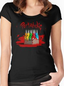 bloody perkoholic Women's Fitted Scoop T-Shirt