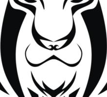 Zodiac Sign Leo Black Sticker