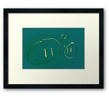 Blobby Love Framed Print