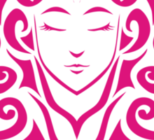 Zodiac Sign Virgo Pink Sticker