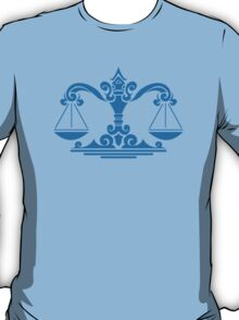 Zodiac Sign Libra Blue T-Shirt