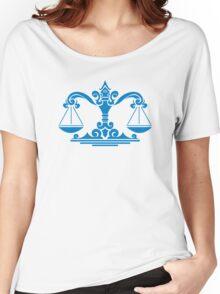 Zodiac Sign Libra Blue Women's Relaxed Fit T-Shirt