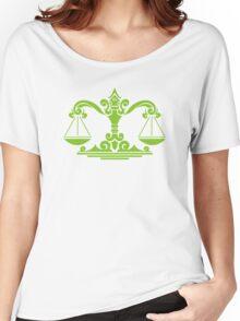 Zodiac Sign Libra Green Women's Relaxed Fit T-Shirt