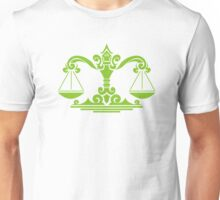 Zodiac Sign Libra Green Unisex T-Shirt