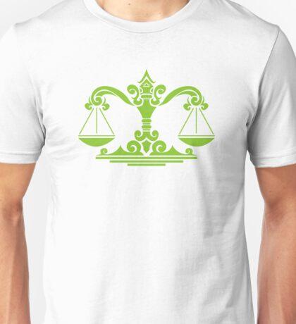 Zodiac Sign Libra Green Unisex T-Shirt