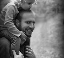 When I am tired, my daddy will always carry me... by laruecherie