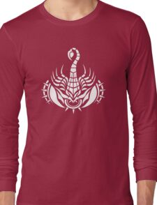 Zodiac Sign Scorpio White Long Sleeve T-Shirt