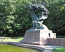 Freyderyk Chopin monument, Warsaw, Poland by Margaret  Hyde