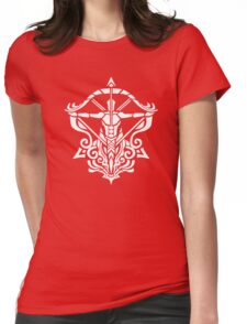 Zodiac Sign Sagitarius White Womens Fitted T-Shirt