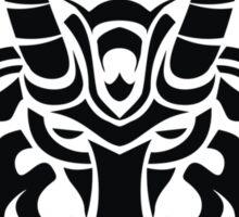 Zodiac Sign Capricorn Black Sticker