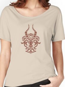 Zodiac Sign Capricorn Brown Women's Relaxed Fit T-Shirt