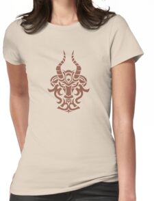 Zodiac Sign Capricorn Brown Womens Fitted T-Shirt