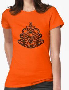 Zodiac Sign Aquarius Black Womens Fitted T-Shirt