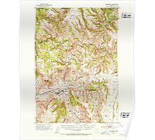 USGS Topo Map Oregon Monument 282732 1951 62500 Poster