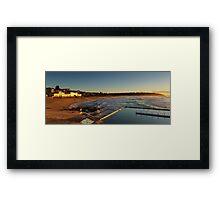 Curl Curl Panorama Framed Print