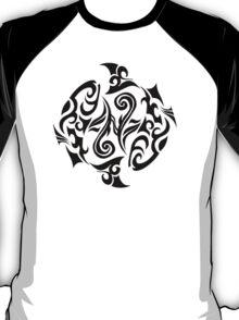 Zodiac Sign Pisces Black T-Shirt