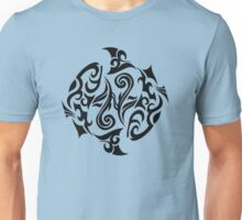 Zodiac Sign Pisces Black Unisex T-Shirt