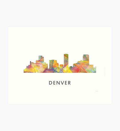Denver, Colorado Skyline WB1 Art Print