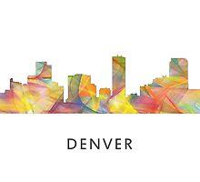 Denver, Colorado Skyline WB1 by Marlene Watson