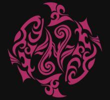 Zodiac Sign Pisces Pink by elangkarosingo