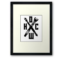 Doctor Who Hardcore Framed Print