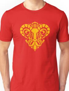 Zodiac Sign Aries Gold Unisex T-Shirt