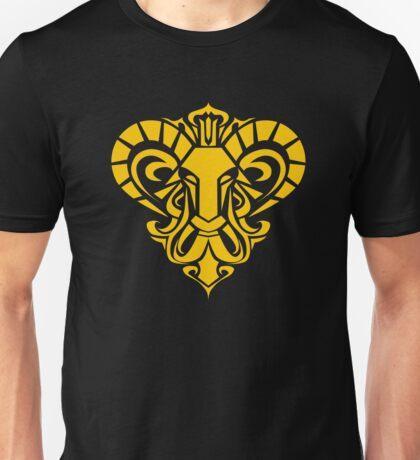 Zodiac Sign Aries Gold Unisex T-Shirt