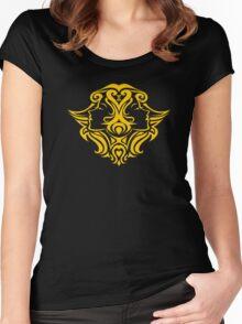 Zodiac Sign Gemini Gold Women's Fitted Scoop T-Shirt