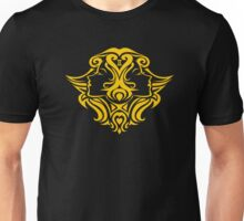 Zodiac Sign Gemini Gold Unisex T-Shirt