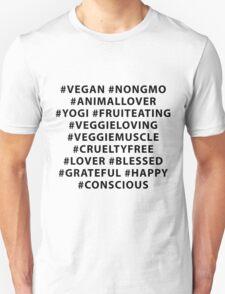 Vegan Hashtags T-Shirt