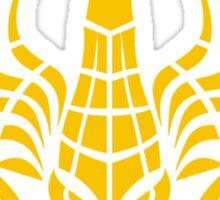 Zodiac Sign Scorpio Gold Sticker
