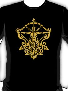 Zodiac Sign Sagitarius Gold T-Shirt