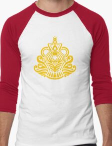 Zodiac Sign Aquarius Gold Men's Baseball ¾ T-Shirt