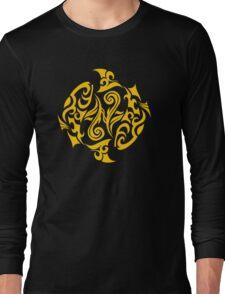 Zodiac Sign Pisces Gold Long Sleeve T-Shirt